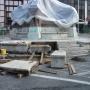 A Zsolnay-szobor talapzatának a felújítása